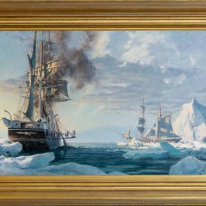 "Whaling began in Arctic waters in 1845 when Captain Royce in the Sag Harbor ship ""Superior"" passed through the Bering Straits and found whales in large numbers. Arctic whaling required no only daring, but greater navigational judgment due to"