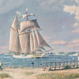 """Nantucket Arrival """"Shenandoah Off Brant Pt."""""""