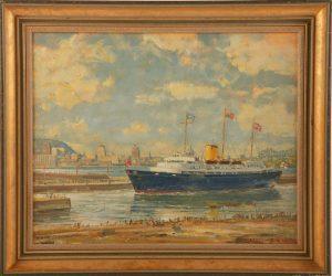 Royal Yacht Britannia Entering St. Lawr. Seaway