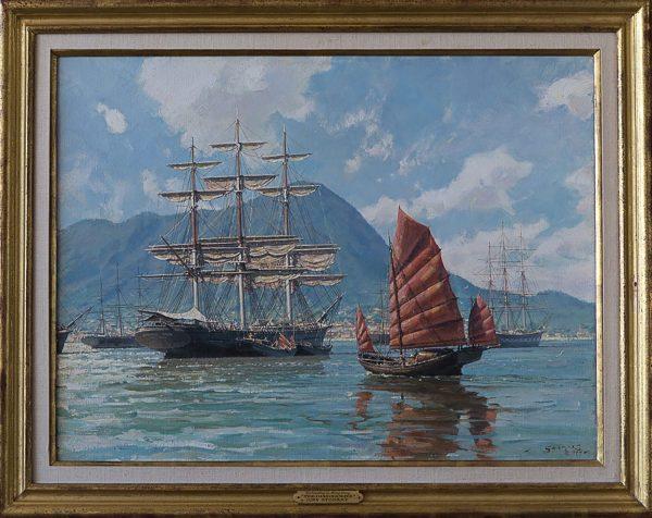 "Unloading in Hong Kong ""The Dashing Wave"""